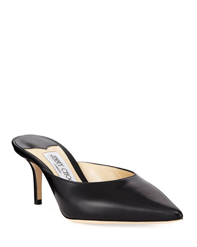 Rav Pointed Leather Mules