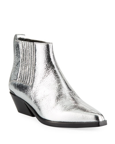 Westin Crackled Metallic Boots