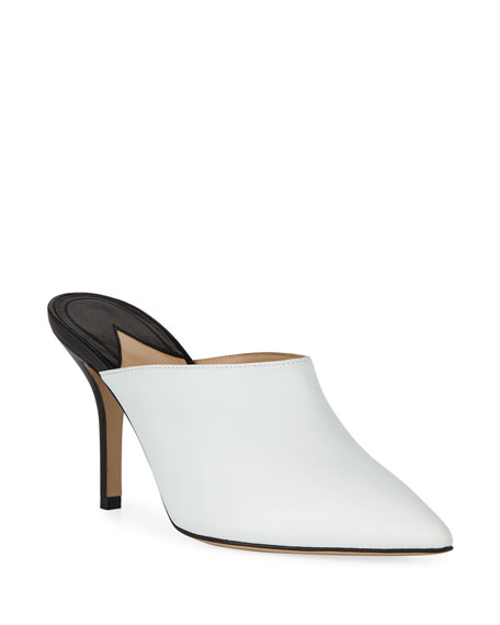 Paul Andrew CERTOSA POINT-TOE COLORBLOCK LEATHER MULES