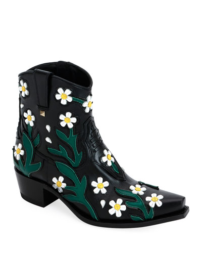 Ranch Daisy Applique Boots