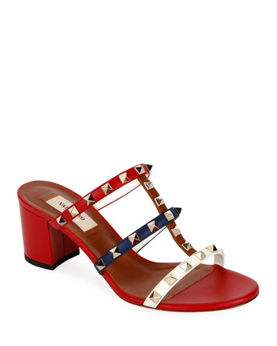 fc5a51ef8c17 Rockstud Caged 60mm Colorblock Slide Sandals
