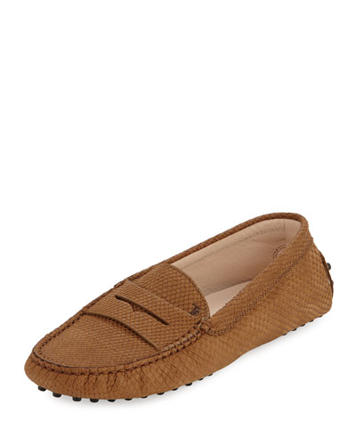 Classic Commini Stamped Python Loafers