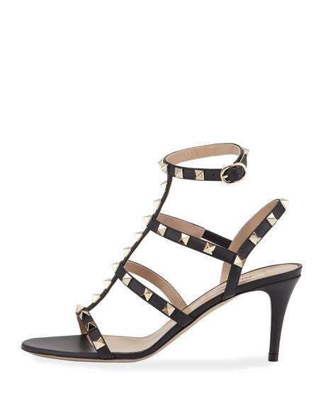 Rockstud Caged Ankle-Strap Sandals