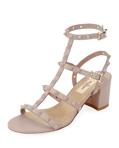 Rockstud Smooth Slide Sandals