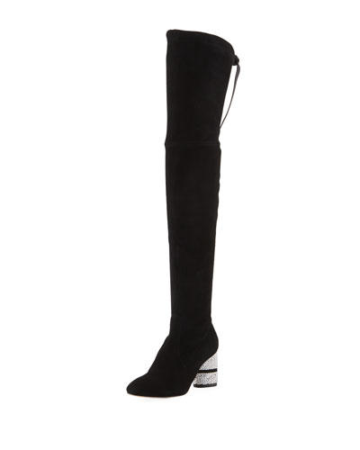 Prism 75mm Suede Over-the-Knee Boots