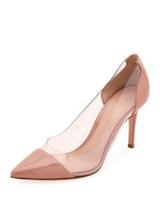 Patent And Plexi Pumps by Gianvito Rossi