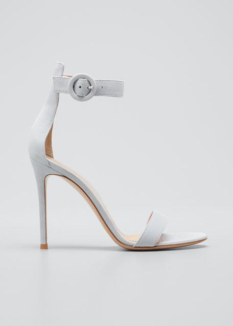 b69c0527d51 Gianvito Rossi Portofino Suede 105mm Sandals
