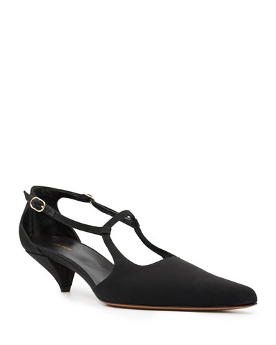 Bourgoise Salome Satin Pumps