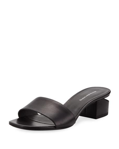 Alexander Wang Lou 40mm Calf Slide Sandals