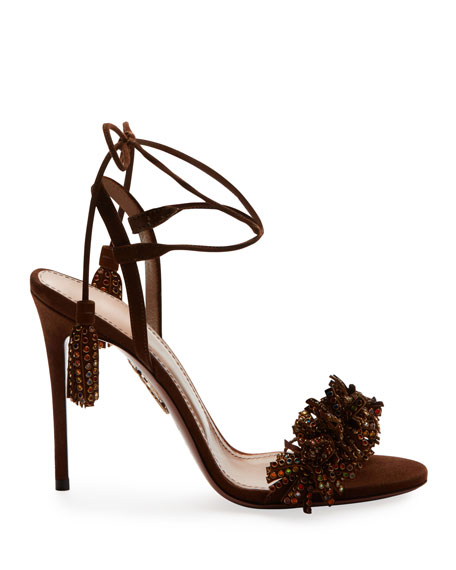 Wild Crystal Fringed Sandals