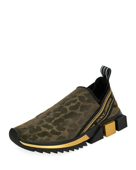 Dolce & Gabbana Jersey Sorrento Logo Sneakers