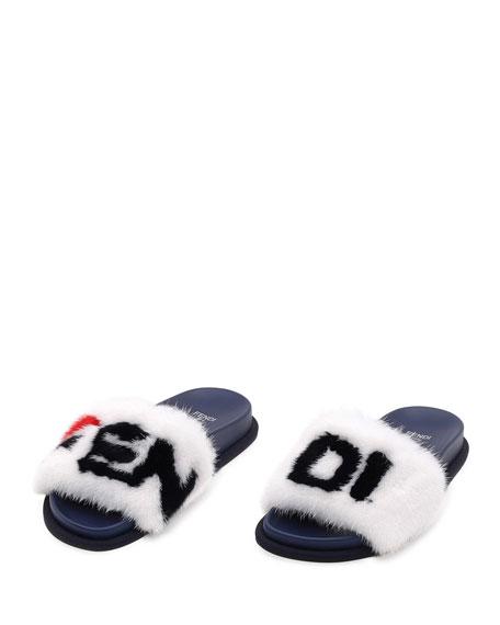 0ad7d5650 Fendi Fendi Mania Mink Pool Slide Sandals