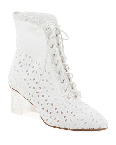 Floral-Lace 50mm Booties