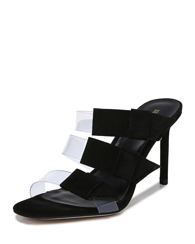 Diane Von Furstenberg Amari 2 Three-Strap Slide Sandals