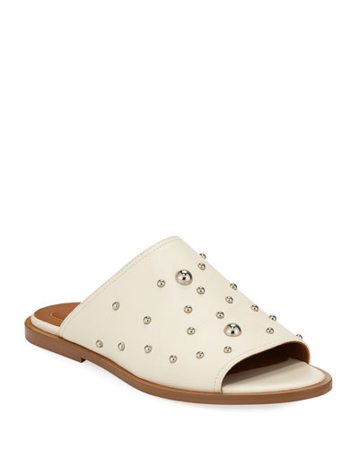 Flat Studded Mule Sandals
