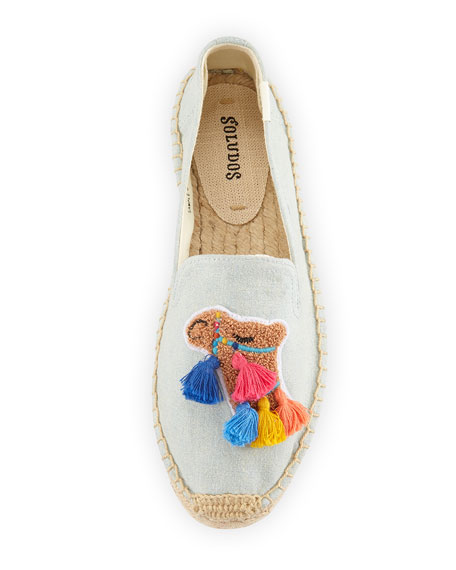 81a0f2e031c Soludos Tassel Camel Espadrille Smoking Slippers
