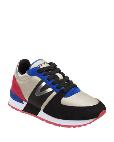 Loyola 3 Mixed-Media Trainer Sneakers