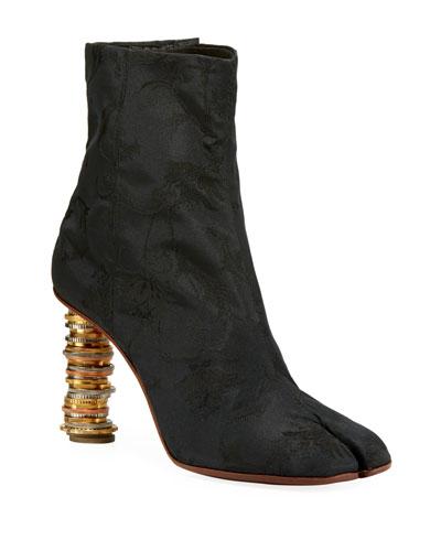 Geisha Baroque Coin Ankle Boots