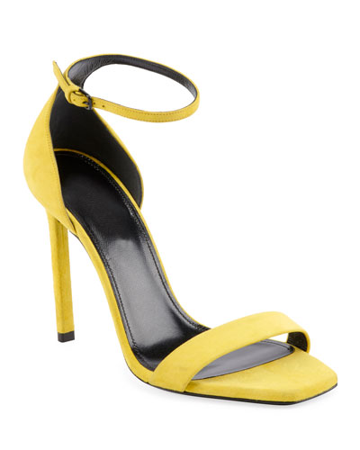 Amber Suede Ankle-Wrap Sandal