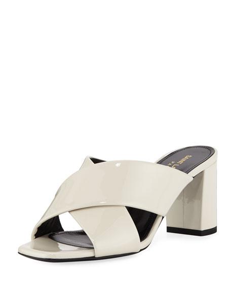 Saint Laurent LouLou Crisscross Sandals