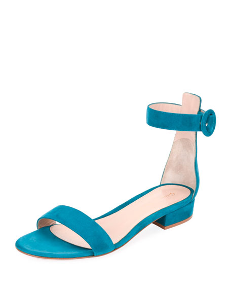 0d0753458c2 Gianvito Rossi Portofino Suede Ankle-Wrap 20mm Sandals
