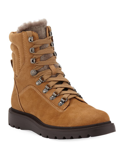 Christie Suede and Shearling Boots