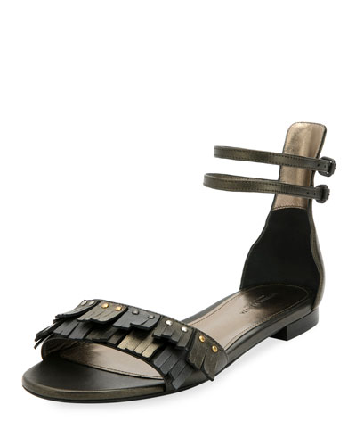 Antique Napa Fringe Flat Sandals