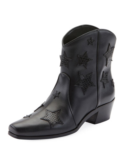 Star Western Leather Booties