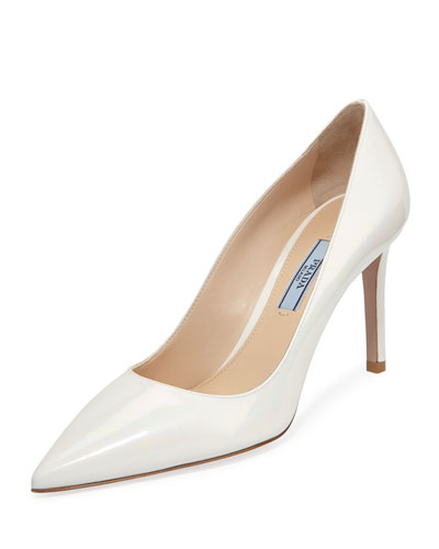 Iridescent Patent Leather Pumps