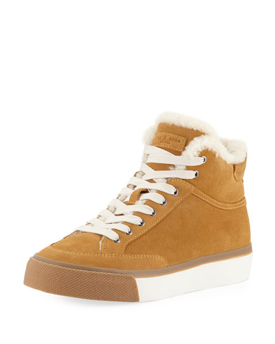 Army High-Top Shearling Sneakers