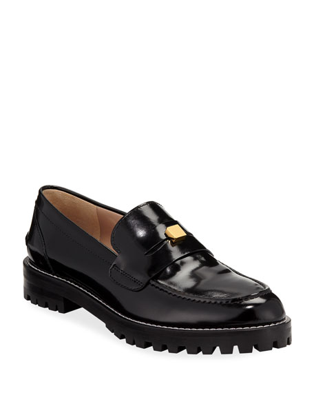 Penley Patent Slip-On Loafers in Black