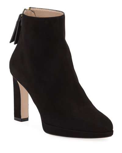 Delphine Suede Ankle Booties