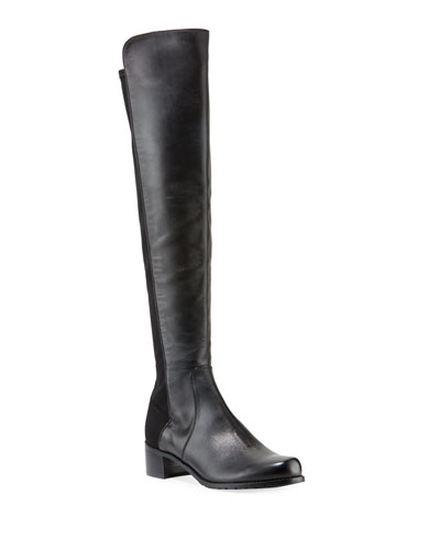 Reserve Leather Stretch-Back Over-the-Knee Boots
