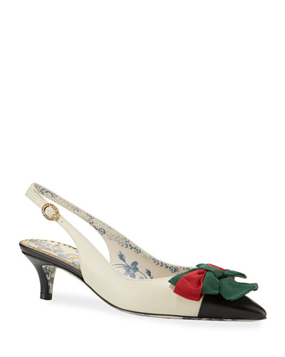 2eee5f43753 Jane Slingback Pumps with Web Bow Quick Look. Gucci