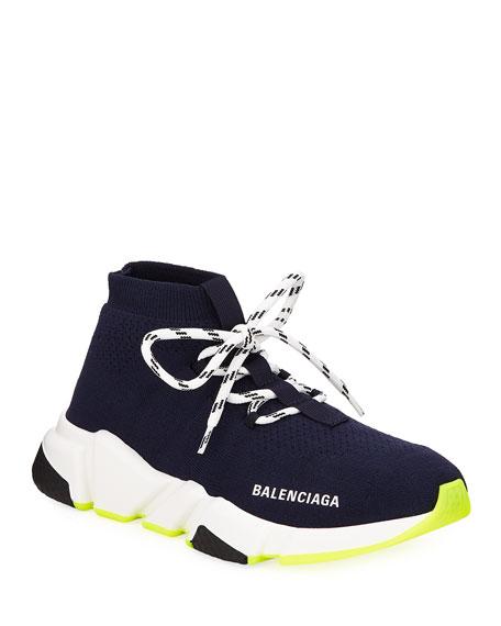 Balenciaga Speed Knit Neon Sneakers