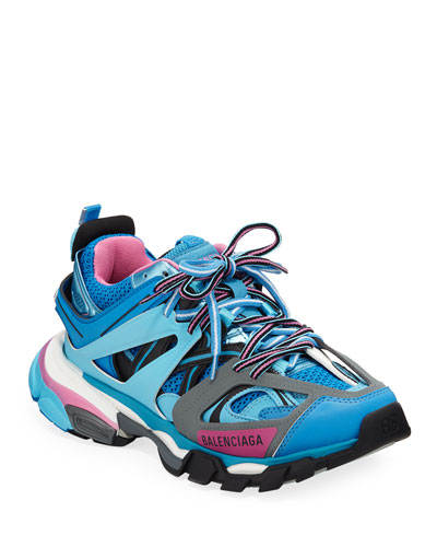 Track Colorblock Mixed Sneakers, Bleu Roi