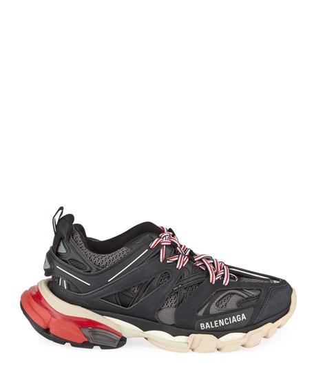 Track Colorblock Mixed Sneakers, Gris Noir