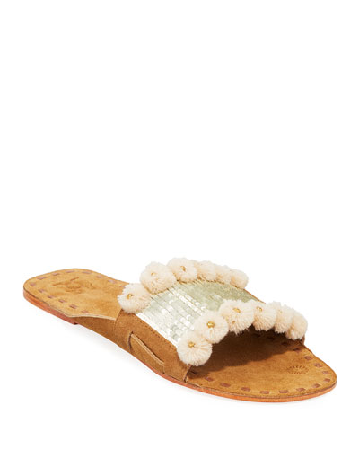 Noona Sequin Slide Sandals