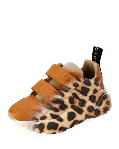 newest ca684 ba707 Stella McCartney Eclypse Ombré Leopard Platform Sneakers