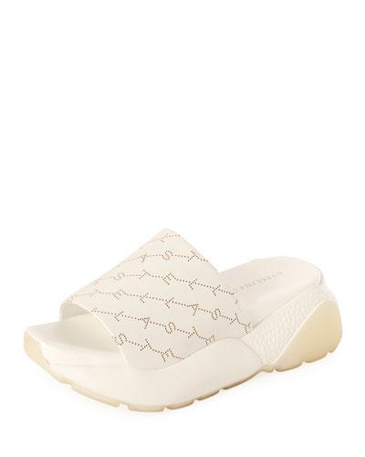 Logo Chunky Platform Slide Sandals