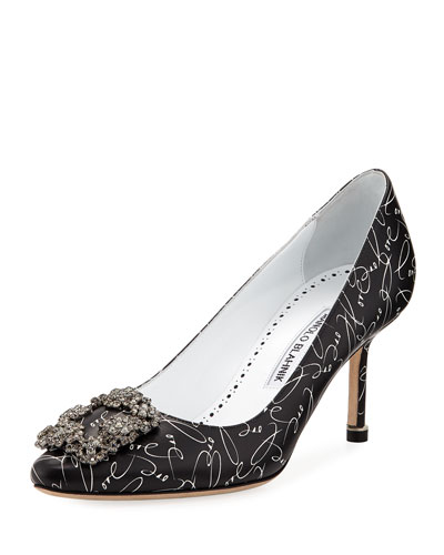 Hangisi 10th Anniversary Love Leather Low-Heel Pumps
