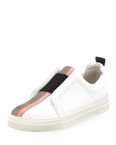 Slider Platform Leather Sneakers