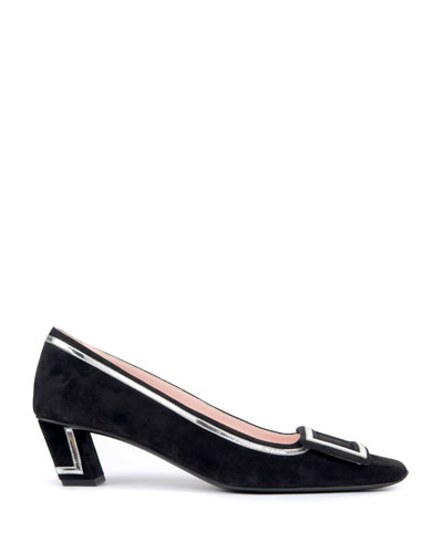 Belle Vivier Two-Tone Graphic Pumps