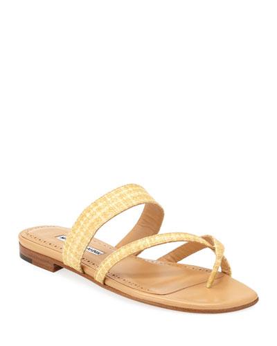 Susa Woven Rafia Sandals