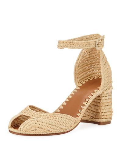 Laila Raffia Ankle Sandals