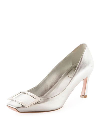 Bell Vivier Trompette Metallic Leather Pumps