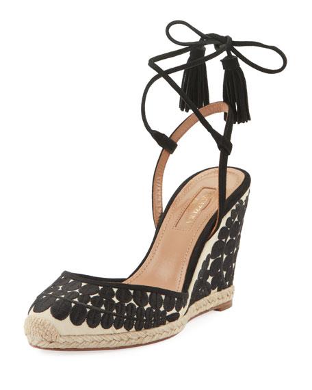 Aquazzura Fez 85 Espadrille Sandals