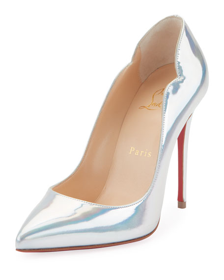 Christian Louboutin Hot Chick Holographic Red Sole Pumps 24fcc94bc232