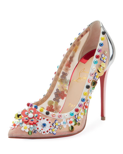 Constrella Embellished Red Sole Pumps