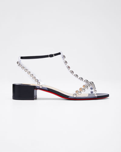 Faridaravie Studded Red Sole Sandals